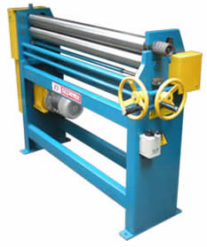 Three Roll Bending Machine are built primarily for sheet metal fabrication & HVAC Duct Fabrication works